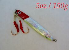 1-10 pcs 150g /5oz Red/Silver Knife Vertical Butterfly Saltwater Fishing jigs
