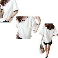 Short sleeves Summer T-shirt The New 1X Blouse Loose Female color Class service