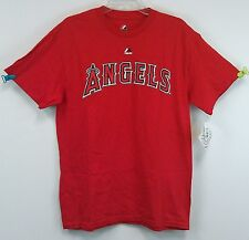 Los Angeles Angels Wordmark T-Shirt Tee Adult Sizes New NWT Red Majestic