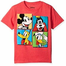 Disney Big Boys' Mickey Mouse, Donald Duck and Goofy T-Shirt - Choose SZ/Color
