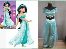 ABULT Aladdin Jasmine Princess Holloween Cosplay Costume Belly Dance Fancy Dress