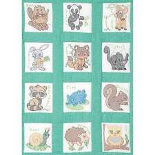 Stamped White Nursery Quilt Blocks 9 Inch X 9 Inch 12/Pkg-Forest F 013155158946