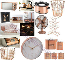 Copper Microwave,Diamond Kettle,2 Slice Toaster & 3 Canisters SET KitchenWorld