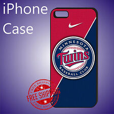 Minnesota Twins Baseball Club Case Cover iPhone 8 8+ 7+ 7 6s+ 6+ SE 5c 5s #ED
