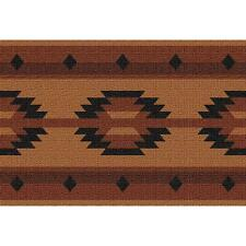 Adobe Tan Southwest Geometric Art Tapestry Placemat 3874-PM ~ Made in USA