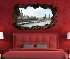 3D Wall Decal Skyline Dresden Port City Picture Wall Picture Wall Sticker 11G381