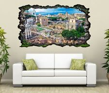 3D Wall Decal Skyline Rom Ruins City Italy Mural Wall Sticker 11G616