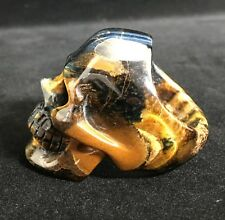 SUPER REALISTIC Golden tigers eye Carved Crystal Skull Ring