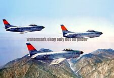U.S. Air Force North American F-86D Sabre Color Photo Military USAF  F 86  1950s
