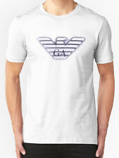 White New Emporio Armani Short Sleeve Body Fit T-Shirt in size M,L and XL