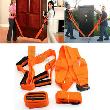 Pair Adjustable Lifting Hand+Shoulder Straps Moving Lift Tool Heavy Furniture AU