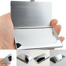 Stainless Steel Business ID Credit Card Holder Box Case Metal Wallet Pocket