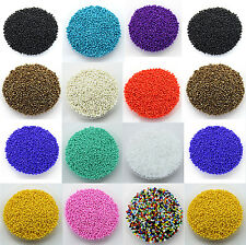 Lots 1000Pcs Round Czech Glass Seed Loose Spacer Beads Jewelry Finding DIY 2.0MM