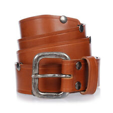 MARTIN MARGIELA MM11 New Man Studs Leather Belt Made in Italy NWT