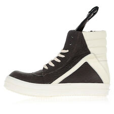 RICK OWENS man Leather GEOBASKET High Sneakers Made in Italy
