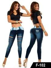 BUTT LIFTER COLOMBIAN SKINNY JEANS IN SIZE 5 & 7 USA #F-102 BY FACTU JEANS