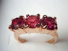 Best new listing lady ruby& champagne sapphire 10kt rose gold filled ring