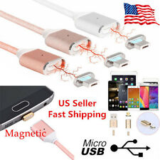 2.4A Micro USB FAST Charging Cable Magnetic Adapter Charger For Android Samsung