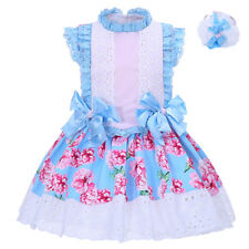 Toddler Girl Flower Party Dress with Headband Lace Bows Pageant Wedding Princess