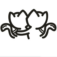 Two Cat Car Sticker Car Decal Graphics Stickers Body Decals Truck Parts 2017