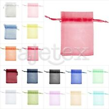 50/100/200pcs Premium Gift Organza Bags Wedding Jewelery Pouches 17x23cm OBS