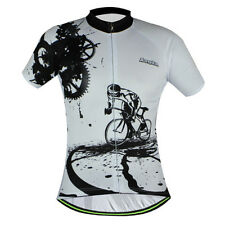 White Rider Team Cycling Jersey Bike Short Sleeve Shirts Bicycle Clothing S-3XL