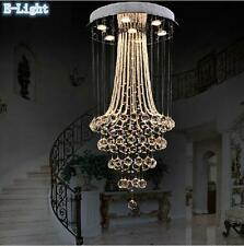 New Luxury Long LED Crystal Lamp Ceiling Lighting Stair Light Chandelier Pendant
