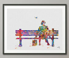 Forrest Gump inspired Watercolor Print Quote Wall Art Poster Wall Decor
