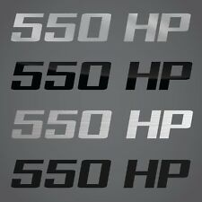 550 HP Decal Graphic Part Fits Chevrolet Camaro, Chrystler Baracuda, Dodge Dart