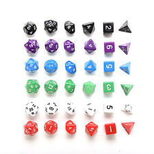 D4 D6 D8 D10 D12 D20 Dice Set for Dungeons and Dragons Game and D&D Game VC