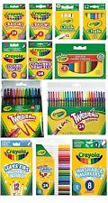 CRAYOLA CRAYONS GLITTER PEN PAINT PENCILS MARKERS CHALK CRAYON SCISSORS WASHABLE