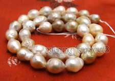 "9 to 10mm Multicolor Round Natural Edison PEARL Loose beads strands 14"" -los749"