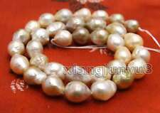 """9 to 10mm Multicolor Round Natural Edison PEARL Loose beads strands 14"""" -los749"""