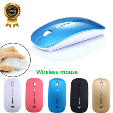 Slim 2400DPI 4 Button Optical USB Wireless Game Gaming Mouse Mice For PC Laptop
