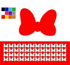 Bow Nail Stickers x 48 Glitter Nail Stickers Minnie Mouse Shaped Nail Art Bows