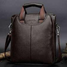 Men's Leather Bag Business Briefcase Handbag Messenger Shoulder Laptop Bag