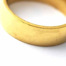 Cute Gold plated womens mens smooth Lady Rings fashion jewelry Size 7 8 9 10 11