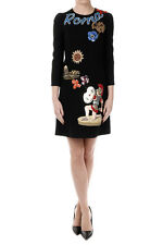 DOLCE E GABBANA New Woman Rome Embroidery Dress Original Made in Italy