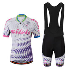 Purple Ladies Cycling Kit Women's Cycling Bib Tights & Cycle Jersey Suit S-5XL