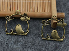 10/50pcs Tibetan Silver Beautiful Birdcage Jewelry Charms Pendant 26x26mm