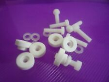 10 Pack M3 M4 M5 M6 NYLON HEX Head Bolts +THUMBNUTS (FINE with Collar)+Washers