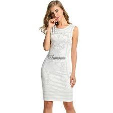 Meaneor Women Sleeveless Studded Bodycon Slim Fit Party Dress WT8801