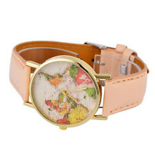 Leather Strap Students 1Pcs Quartz World Map Dial Watches Hot Sale Casual