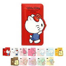 Hello Kitty 3D Silhouette Cutie Leather Diary Cover Case For Samsung Galaxy S8+
