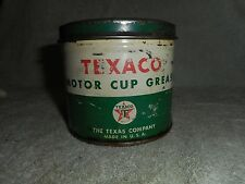 Texaco Motor 1 Pound Cup Grease Empty Metal Can