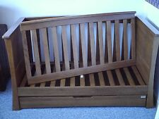 Mamas and Papas Solid Oak Ocean Cotbed / Toddler Bed