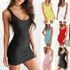 Sexy Women Bandage Bodycon Dresses Sleeveless Evening Party Cocktail Short Dress