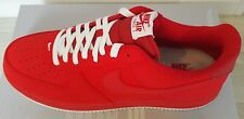 Nike Air Force 1 Leather Trainers Mens Red White UK Size 11 Sale Rare RRP £165