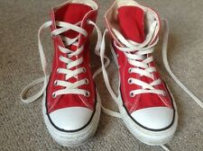 Converse All Star Hi Top Size 4 Good used Condition Red