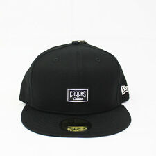 Crooks & Castles X New Era The New Core Logo Fitted Hat in Black NWT Crooks